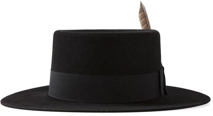 3600ea3db Saint Laurent feathered fedora   sombreros   Hats, Hats for men ...