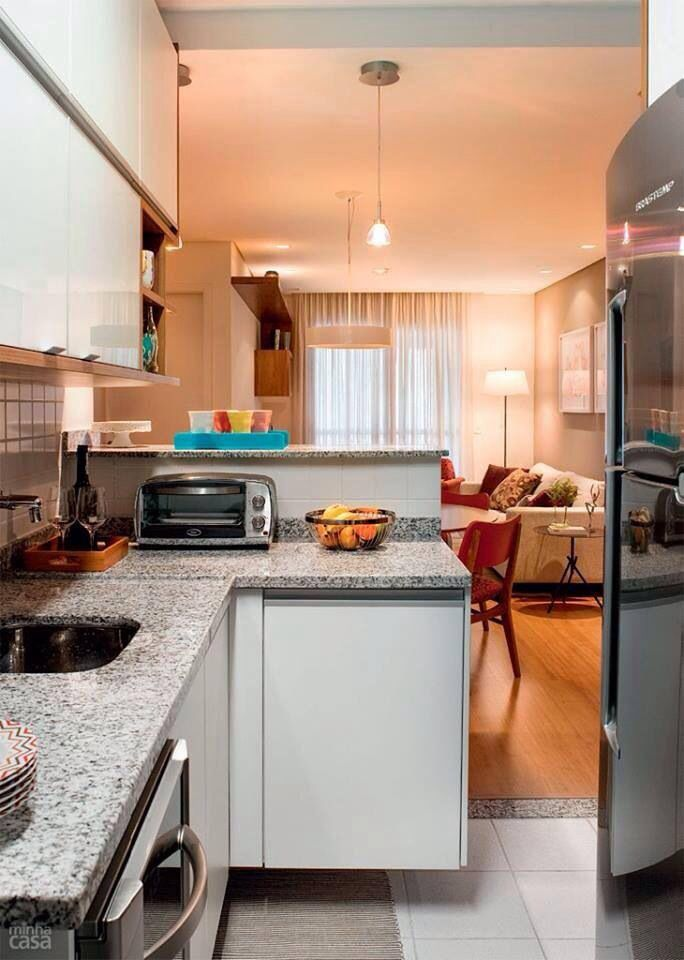 Cozinha americana revista minha casa cocinas cocinas for Barras de cocina para espacios pequenos