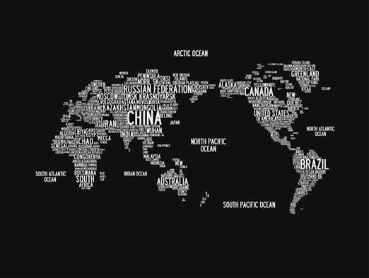 World word map made out of wordsnvas print wall art world word map made out of wordsnvas print gumiabroncs Gallery