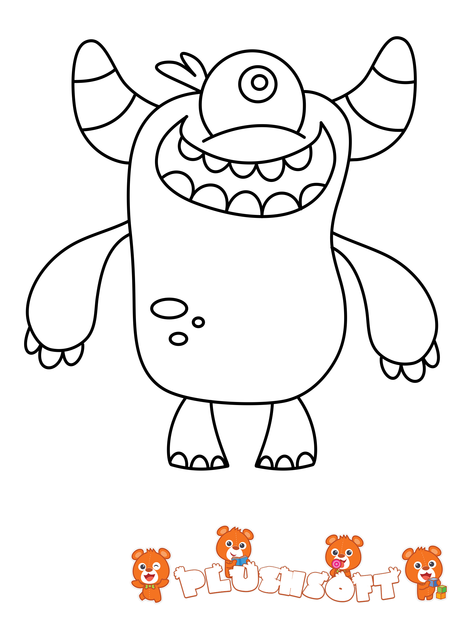 FREE Printable Coloring Page - a cute Monster for your ...