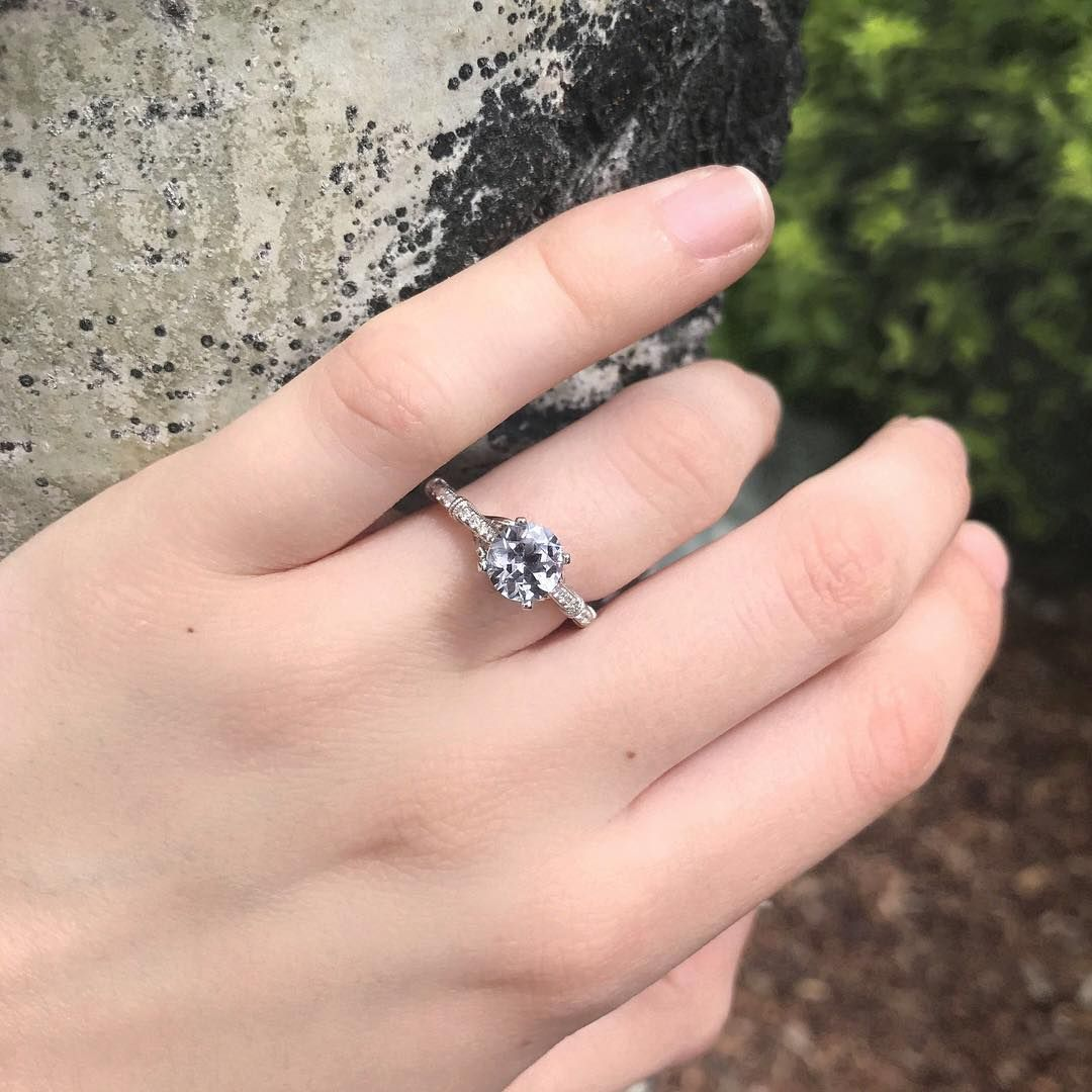 This beautiful lavender Natural Montana Sapphire ring we just ...