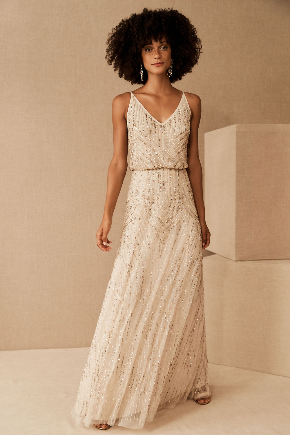 Fidelia Beaded Maxi Dress In 2020 Beaded Bridesmaid Dress Ivory Bridesmaid Dresses Beaded Maxi Dress