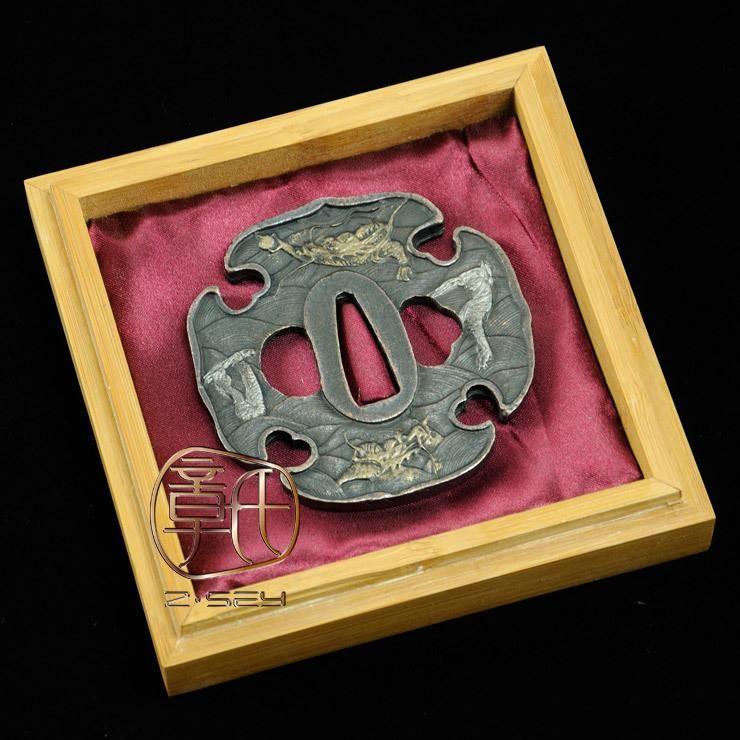 IMAGES OF JAPANESE WEAPONS | ... > Alloy Tsuba > alloy tsuba for japanese swords katana guard hjt109