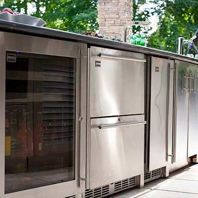 Outdoor Ice Makers Outdoor Kitchen Backyard Renovations Design