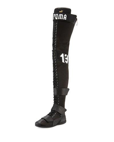 S0G9E FENTY PUMA by Rihanna Eskiva Over-the-Knee Boxing Boot a8fe27102