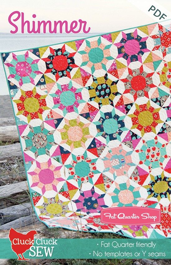 Shimmer Downloadable PDF Quilt PatternCluck Cluck Sew - Downloadable ...