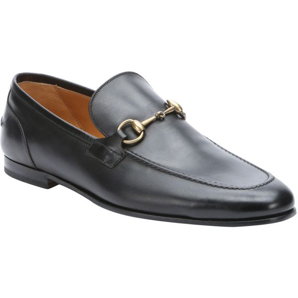 e22cceda00286f Men s Shoes · Loafers · Gucci Black Leather  jordaan  Horsebit Loafers (£420)  ❤ liked on Polyvore