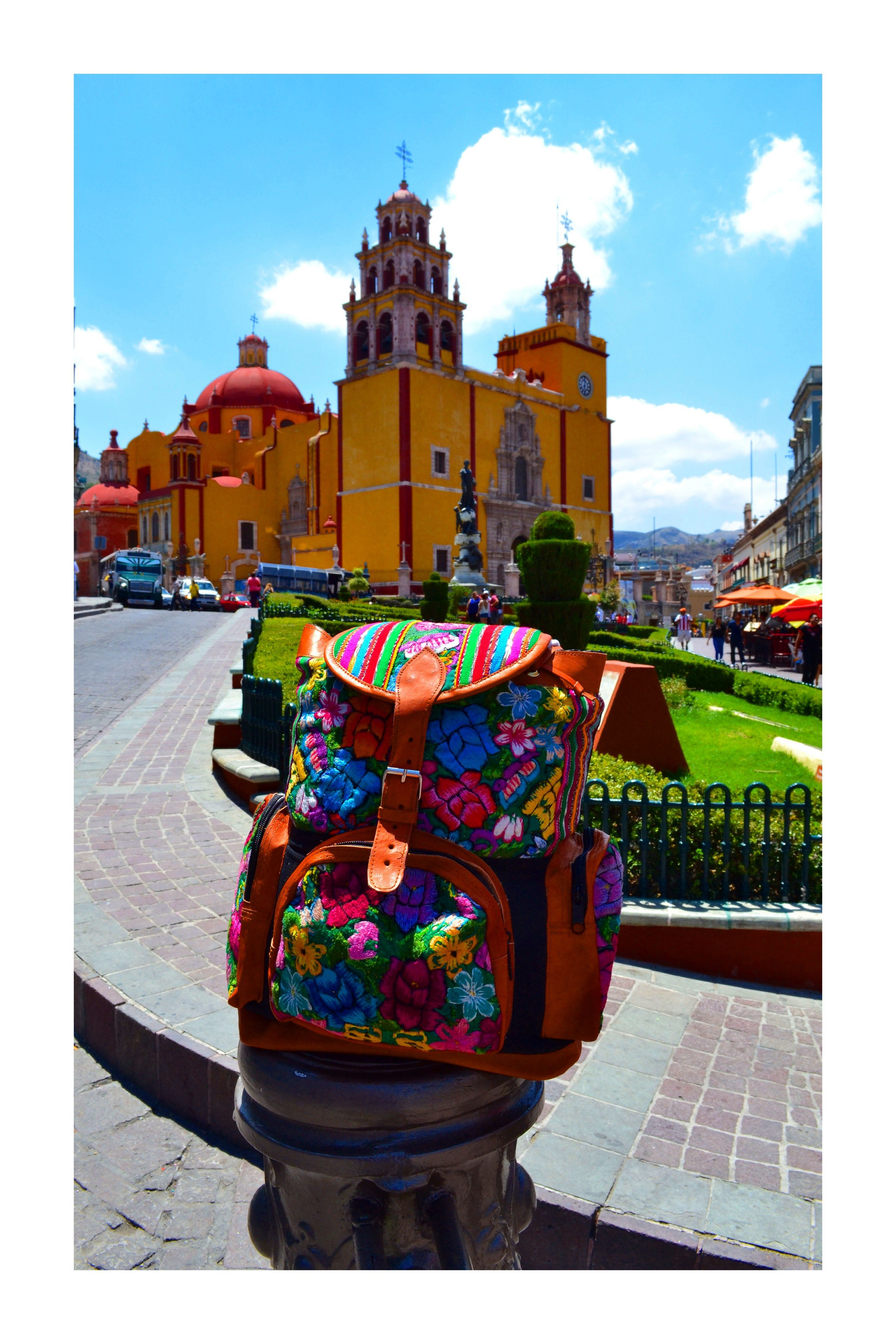 Handmade embroidery backpacks by Mexican artisans