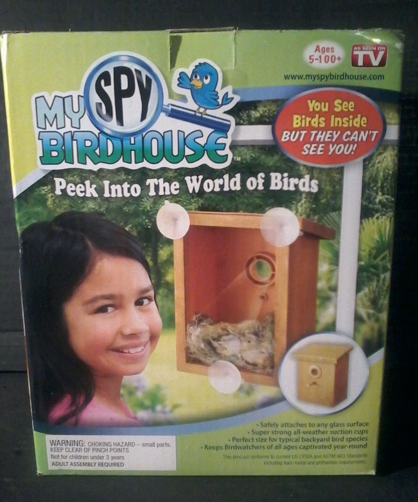 Window bird house as seen on tv - Birds Nib My Spy Birdhouse Window Cling Mount Bird Nest View As Seen On Tv
