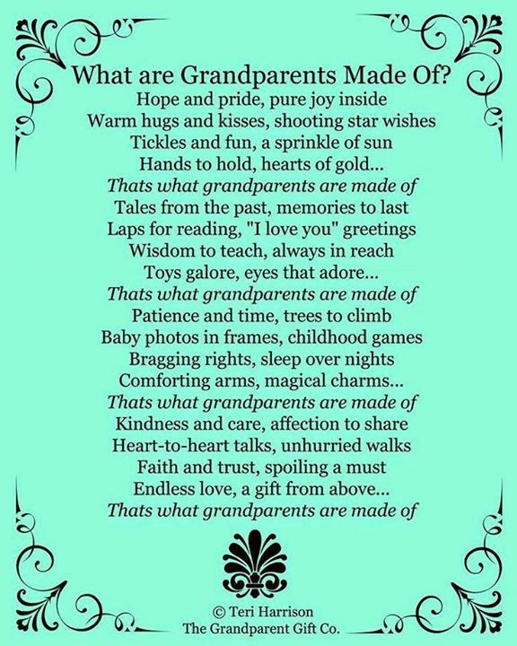 What Are Grandparents Made Of
