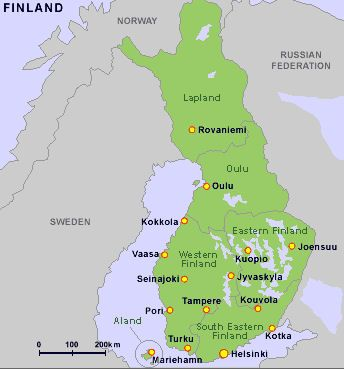 Finland Map Finland Pinterest Finland Flags europe and Resorts