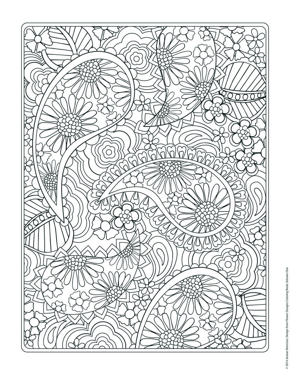 flower designs coloring book - Design Coloring Pages