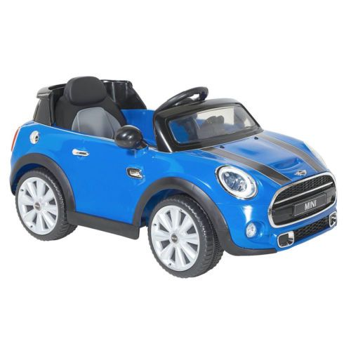 Electric-Car-For-Kids-to-Ride-Mini-Cooper-Blue-Boys-Girls
