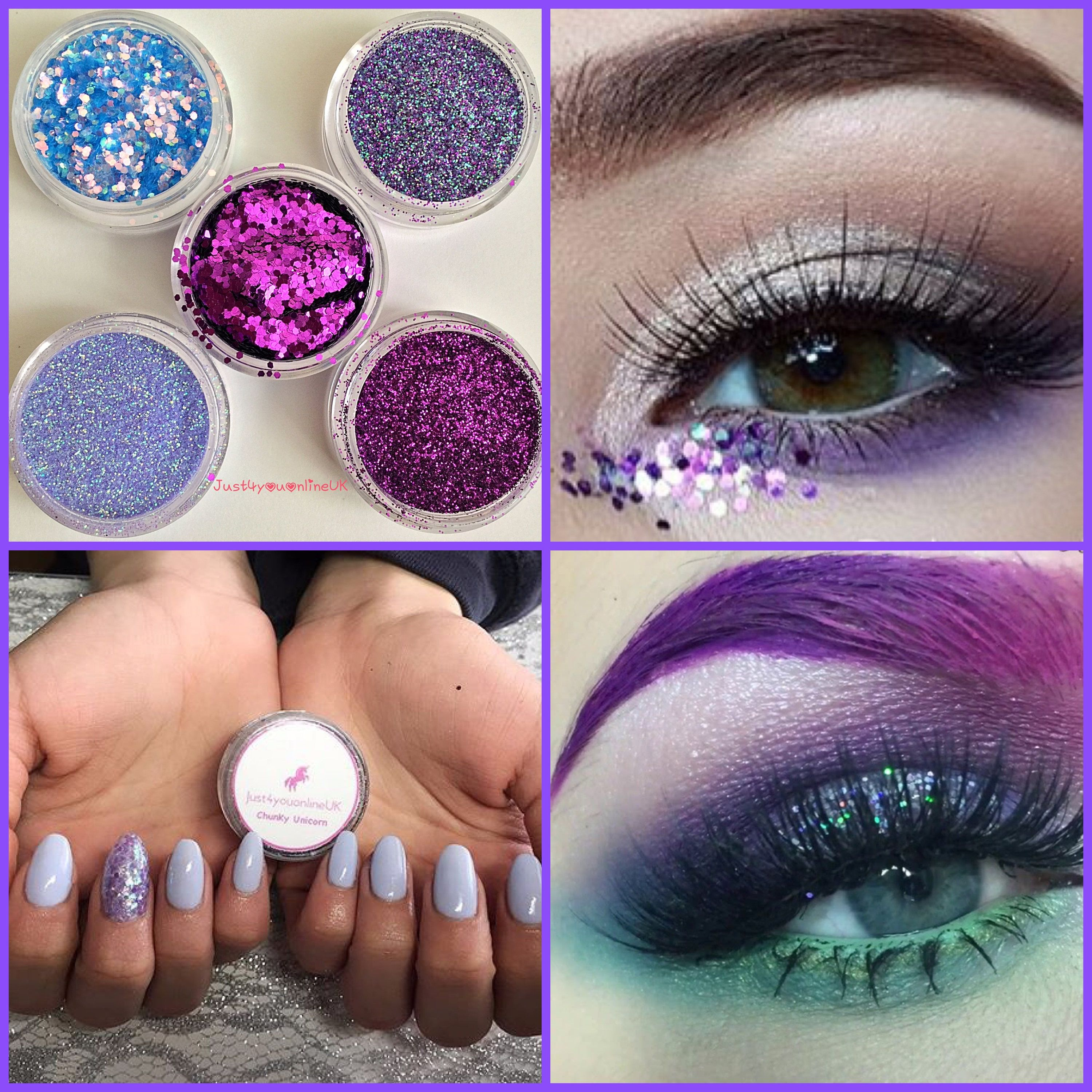 Purple Passion Glitter Collection Cosmetic Loose Glitter Pots for ...