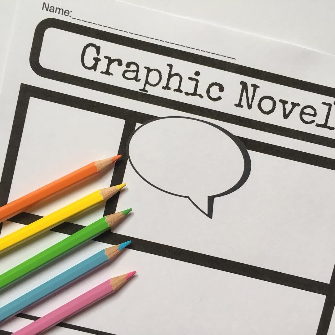 Graphic Novel Template for Reading or Writing   Novels, English ...