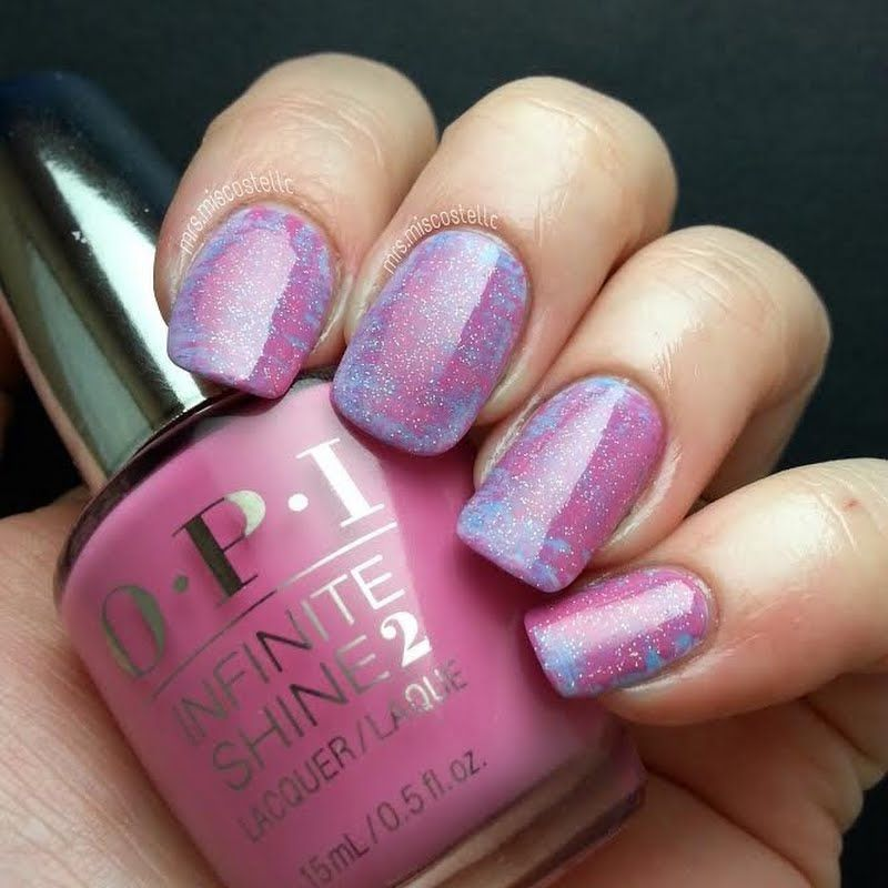 This Easy To Do Nail Art Makes Use Of The Fan Brush Technique To