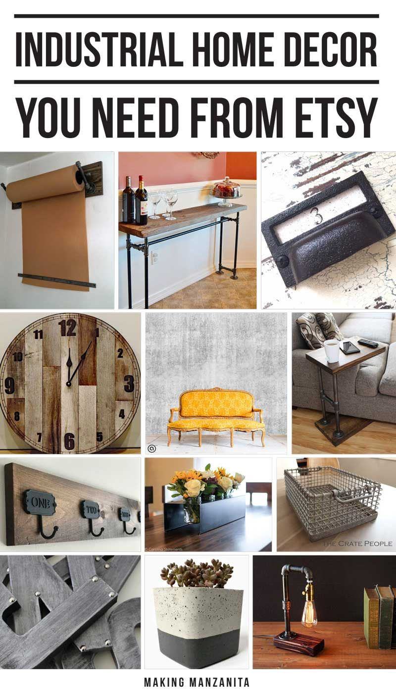High Quality 12 Industrial Home Decor Pieces You Need From Etsy Images
