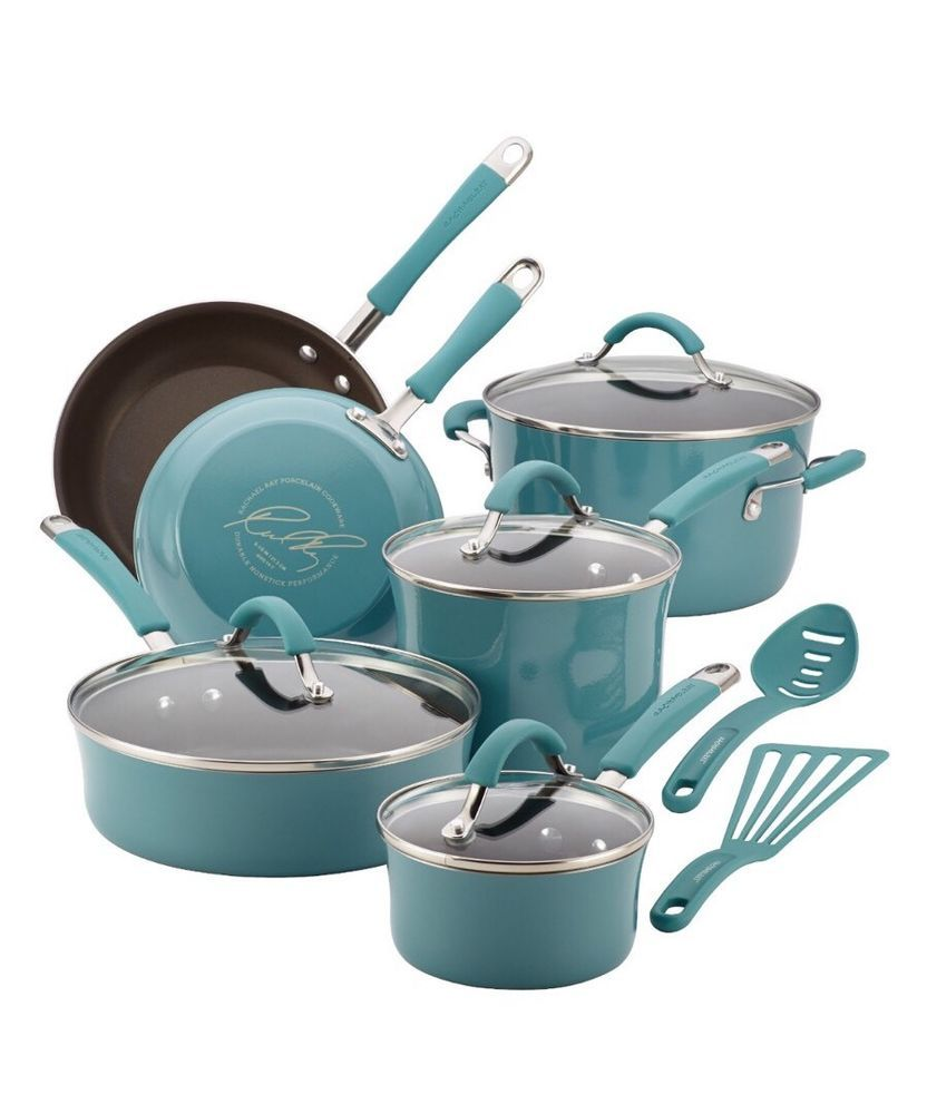 Kitchen Pots Pans Nonstick Cookware Set 12 Piece Cooking New Free ...