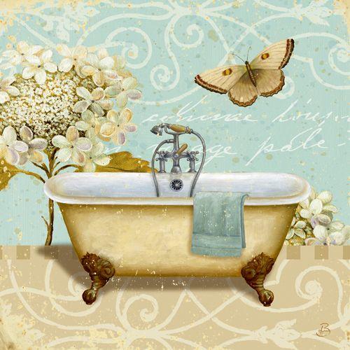 Brissonnet Daphne Light Breeze Bath I, Digitaldruck, Poster