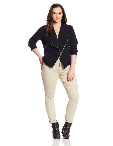 Black Friday BB Dakota Women's Plus-Size Ryker Texture Fabric Jacket, Black, 3X from BB Dakota Cyber Monday