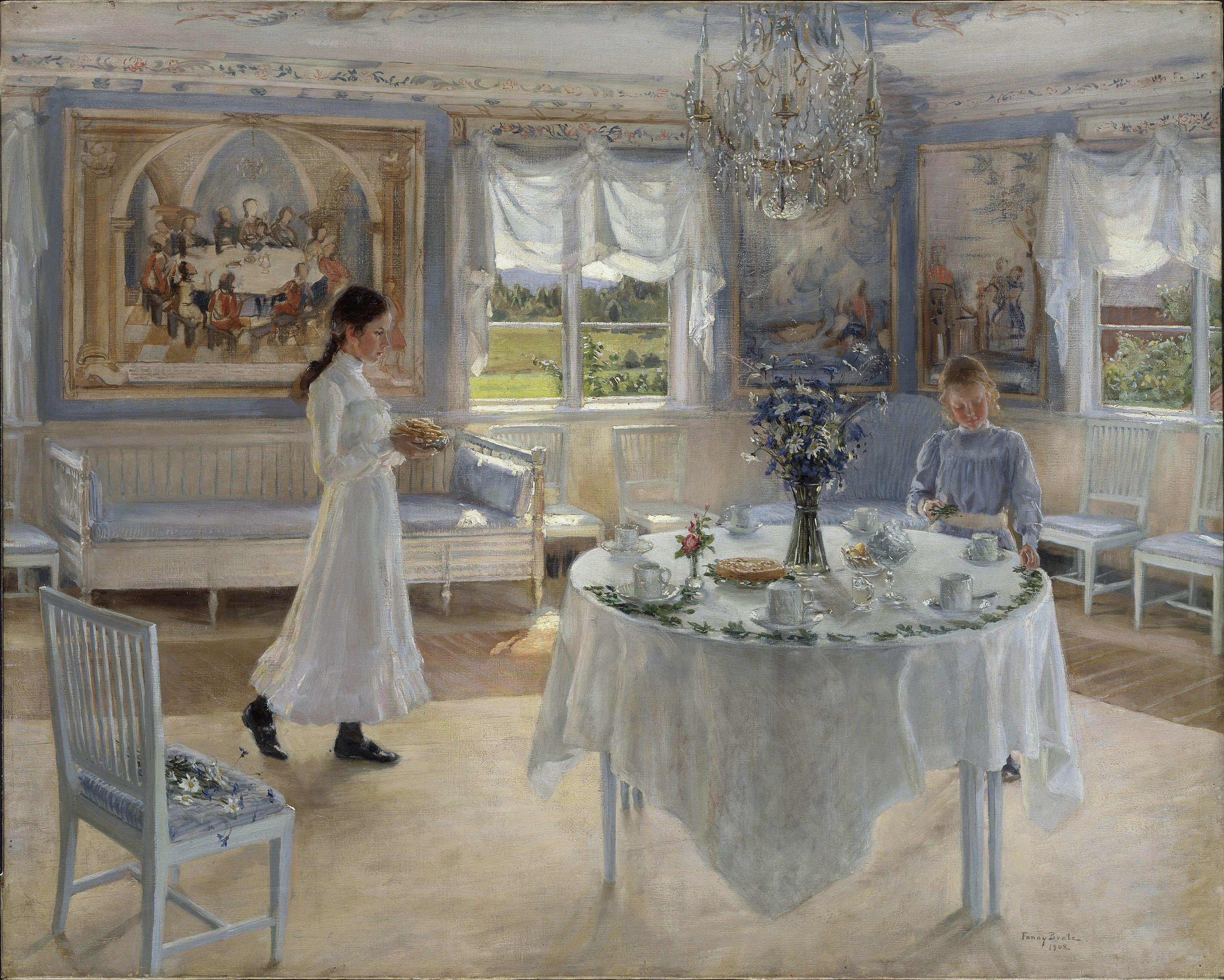 Carl Larsson Fanny Brate Namnsdag
