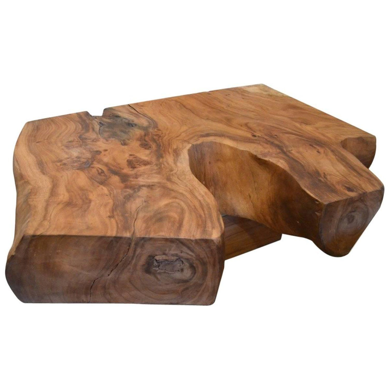 andrianna shamaris organic suar wood coffee table wood coffee