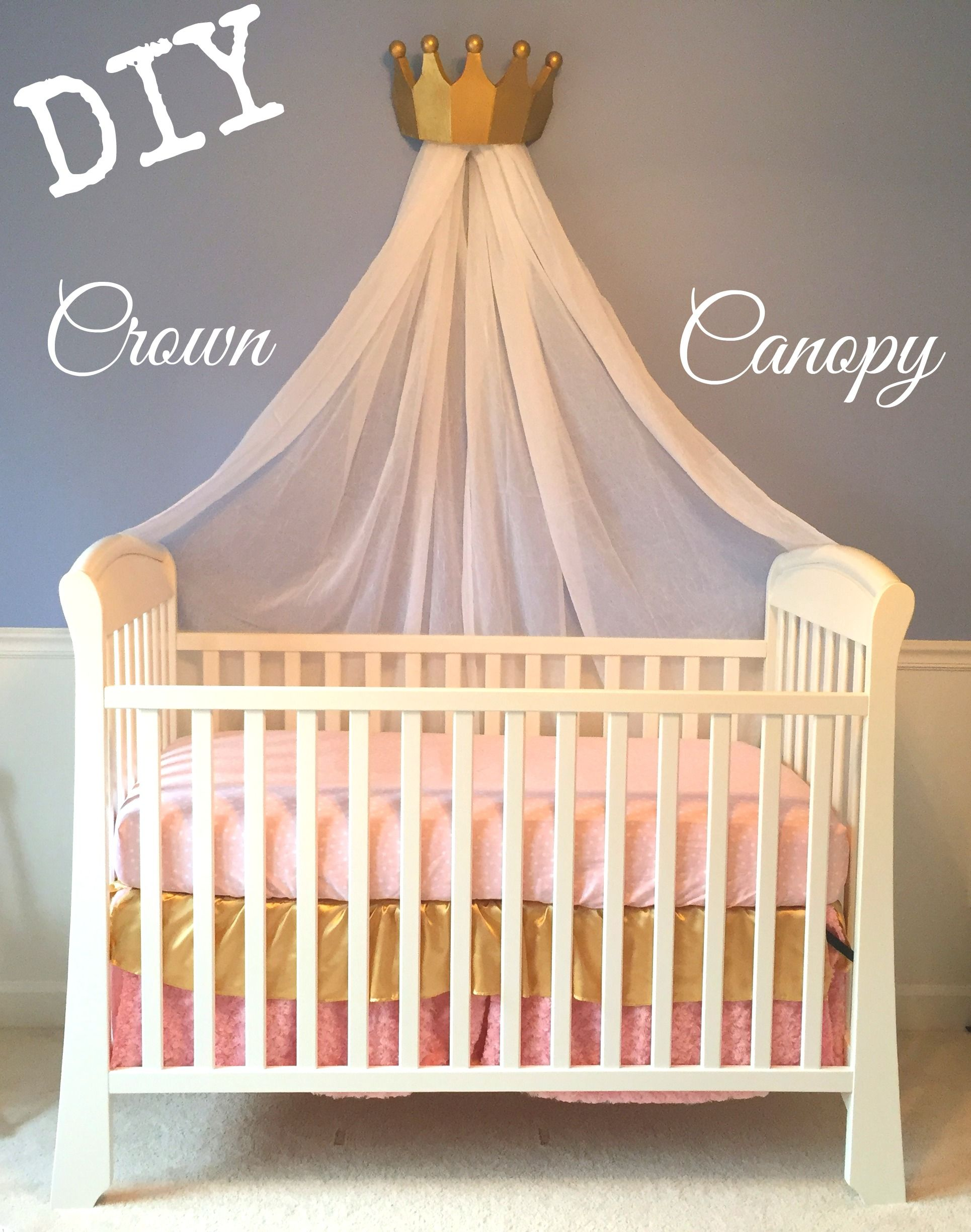 diy crown canopy for a crib or bed fit for a princess