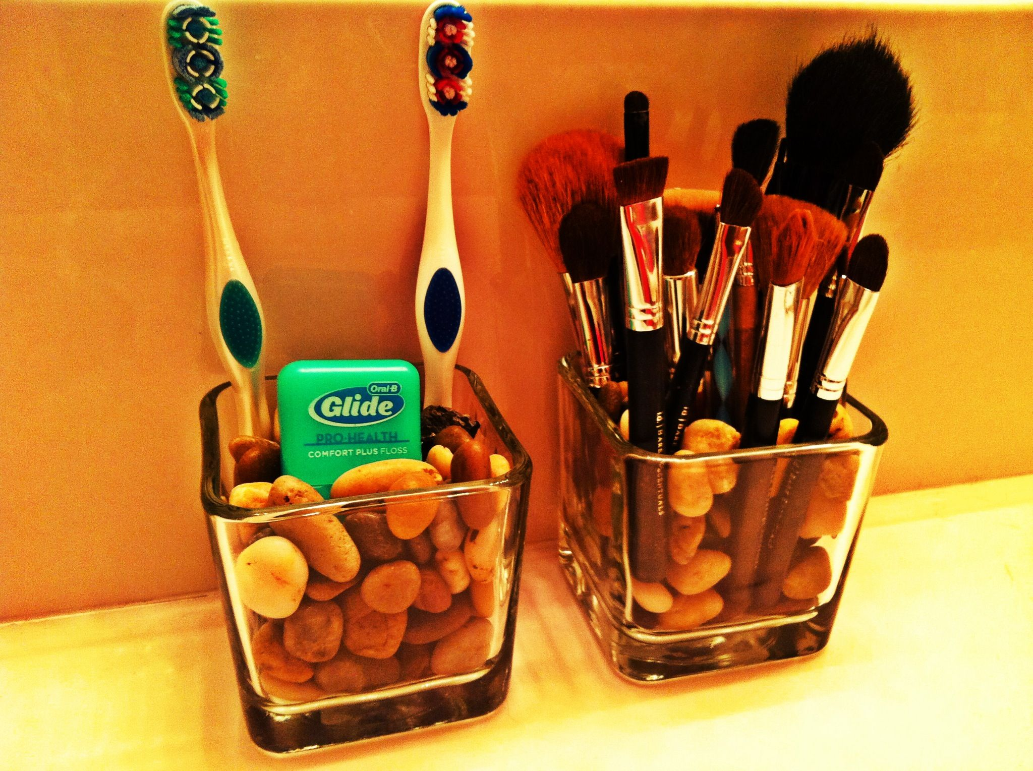 Dollar Store MakeUp Brush holder. Use for toothbrushes