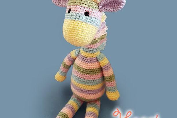 Julies Giraffe Free Crochet Amigurumi Pattern Heart Sew