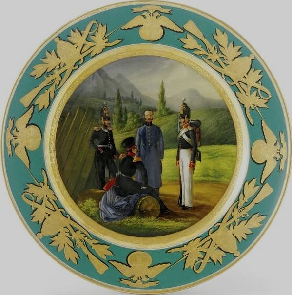 Plate from Military Service Russian Imperial Porcelain & Plate from Military Service Russian Imperial Porcelain | Plates ...