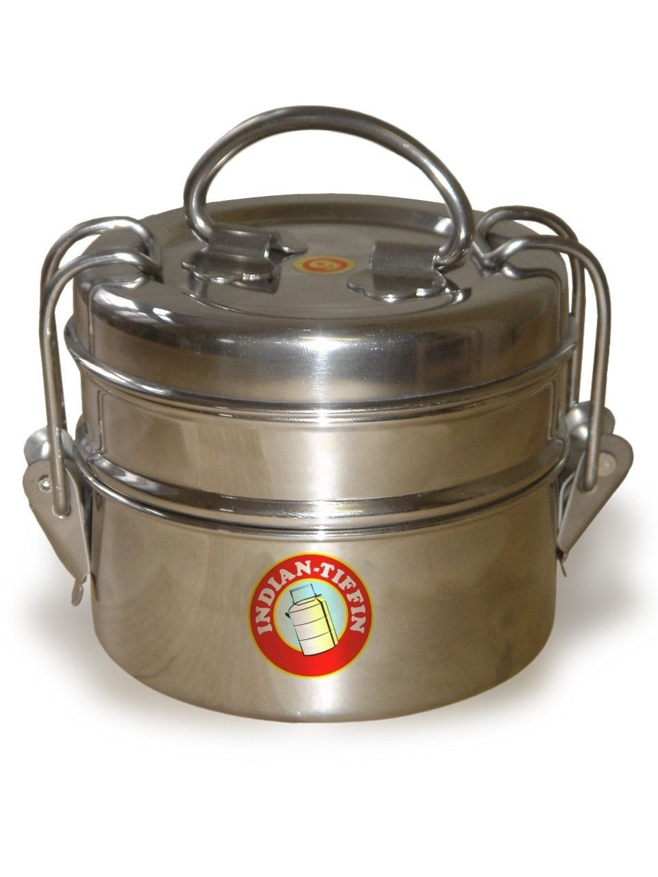 231b0d120972 2 Tier Indian-Tiffin Box: Amazon.co.uk: Kitchen & Home   Stainless ...