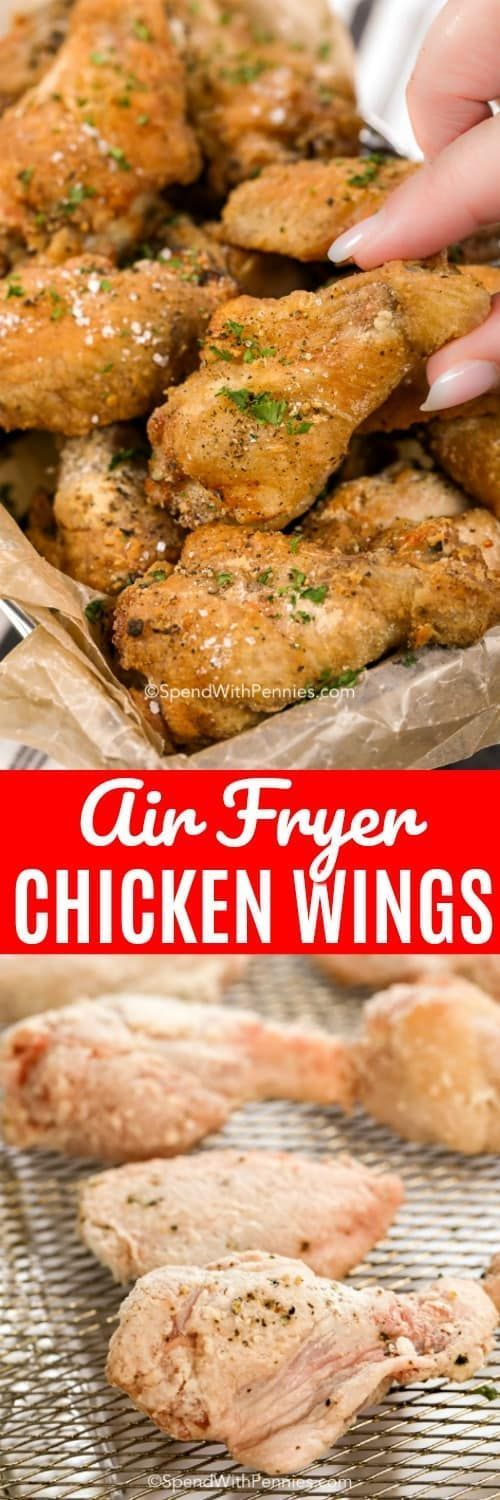 Air Fryer Chicken Wings - Spend With Pennies - #Air # ...
