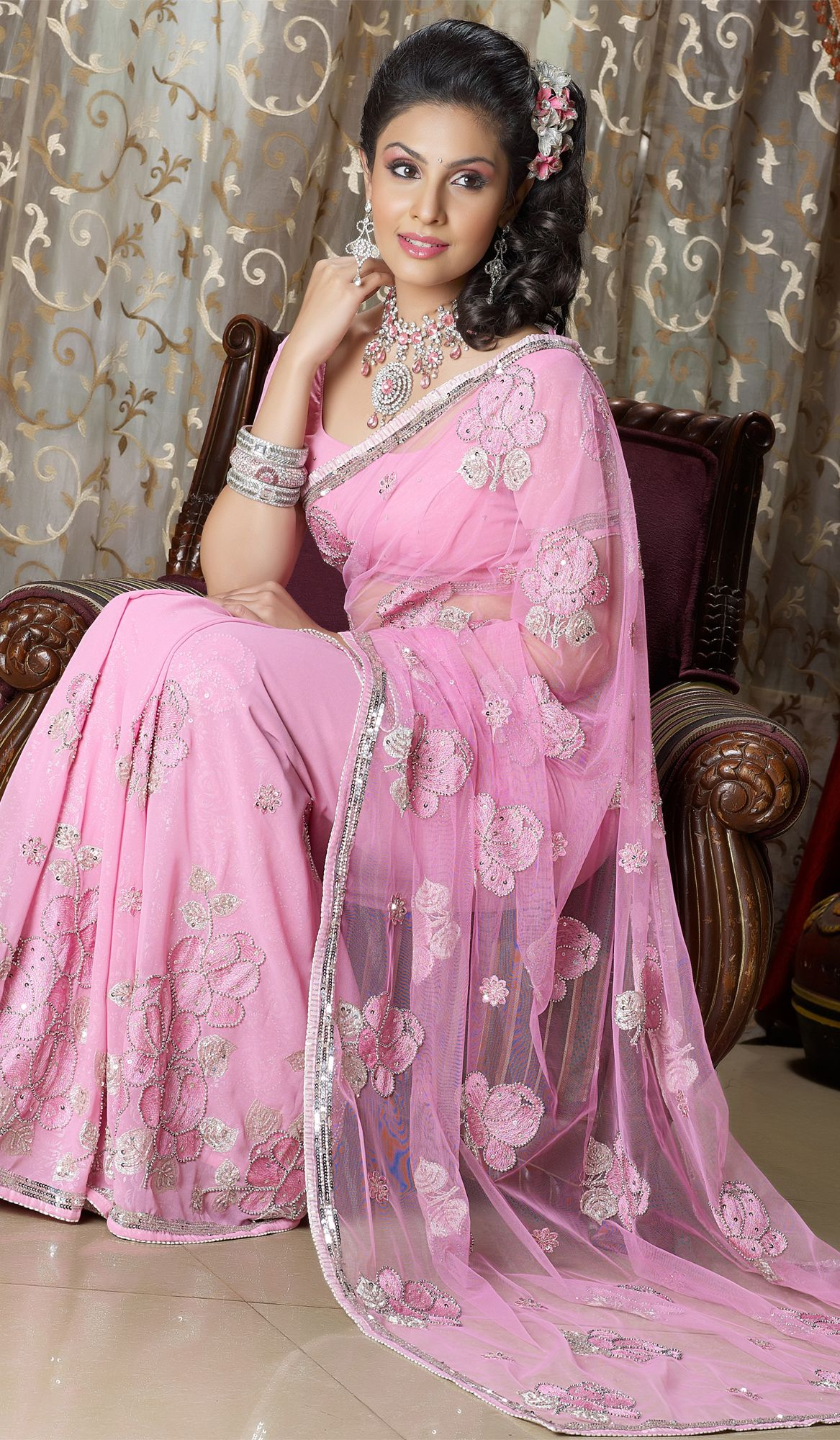 Pink Wedding Designer #Saree | Designers | Pinterest