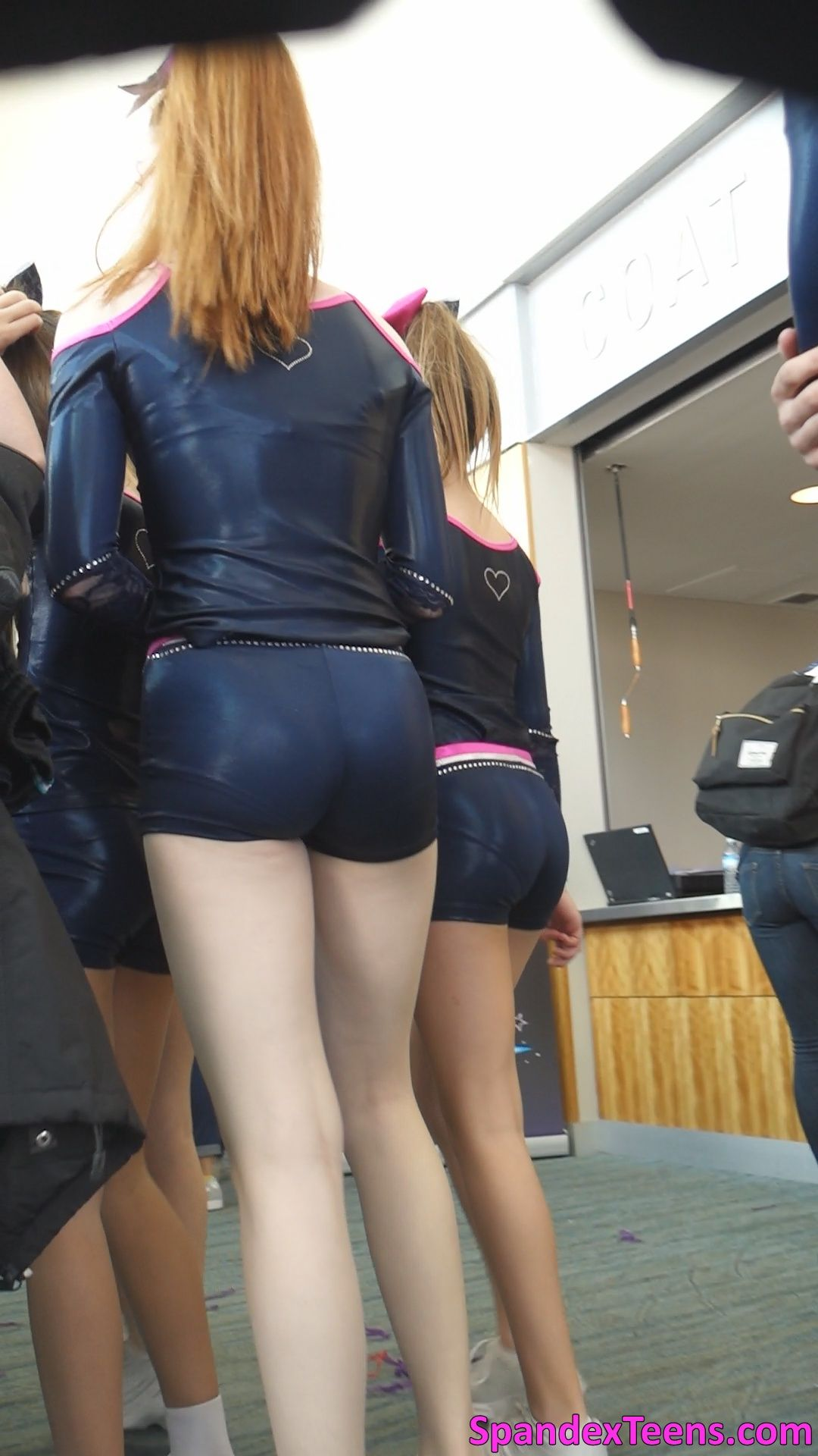 Teen In Spandex Shorts 90