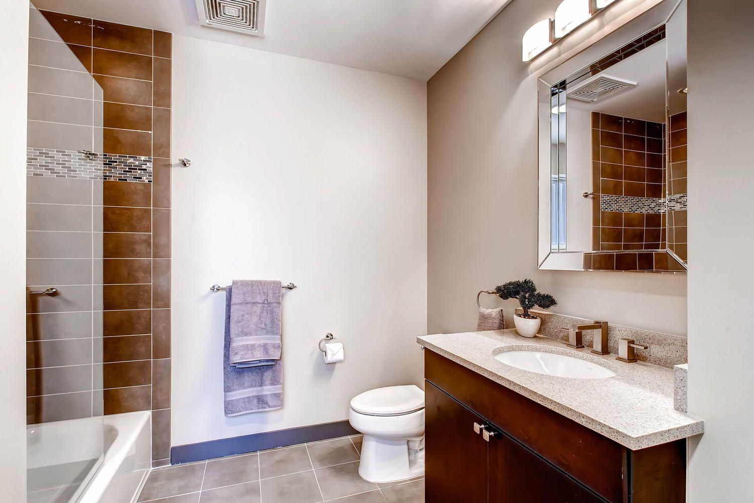 Blake St. Lofts, Denver lofts, 3 piece bathroom, expresso cabinetry ...