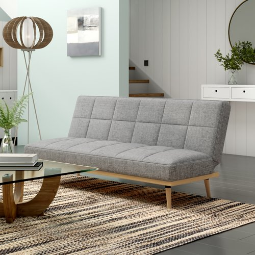 Milo 2 Seater Clic Clac Sofa Bed Leader Lifestyle Upholstery Light Grey Sofa Bed Design Sofa Bed Modular Sofa Bed