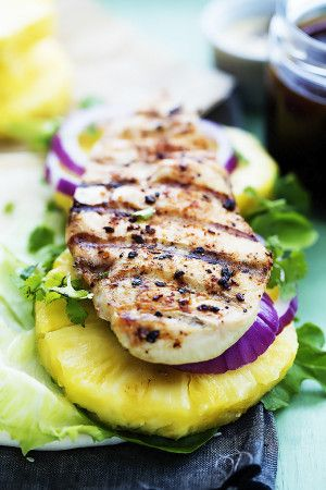 Grilled Pineapple Teriyaki Chicken Wraps | Creme de la Crumb