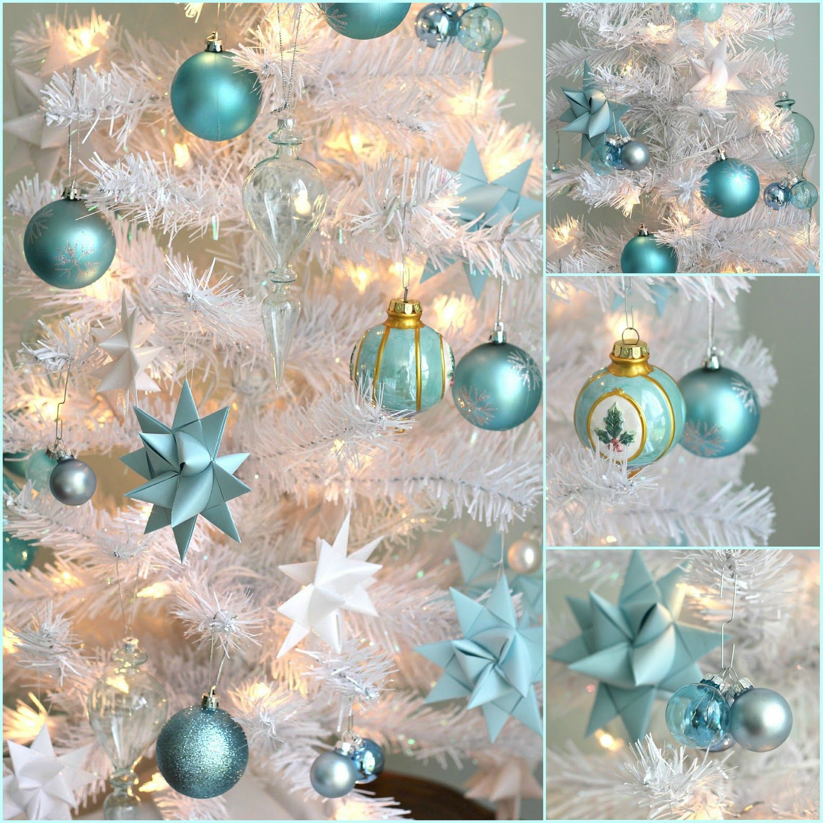 Turquoise And White Christmas Tree: With A Grateful Prayer And A Thankful Heart: We've Been
