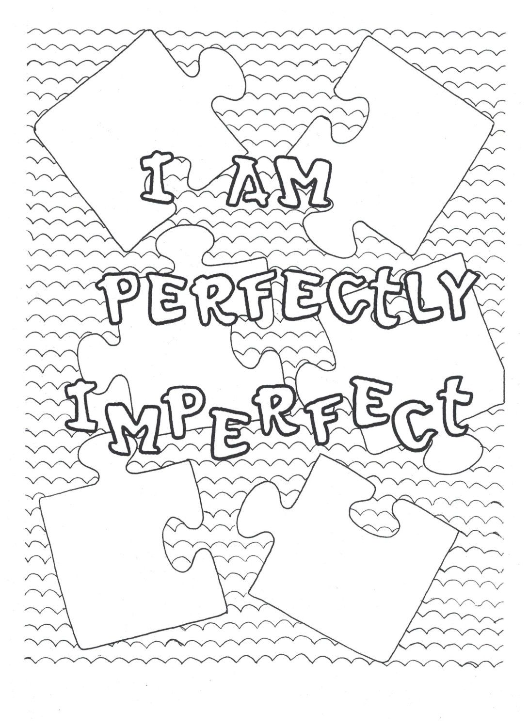 I Am Perfectly Imperfect Coloring Page By Stacy06designs On Etsy