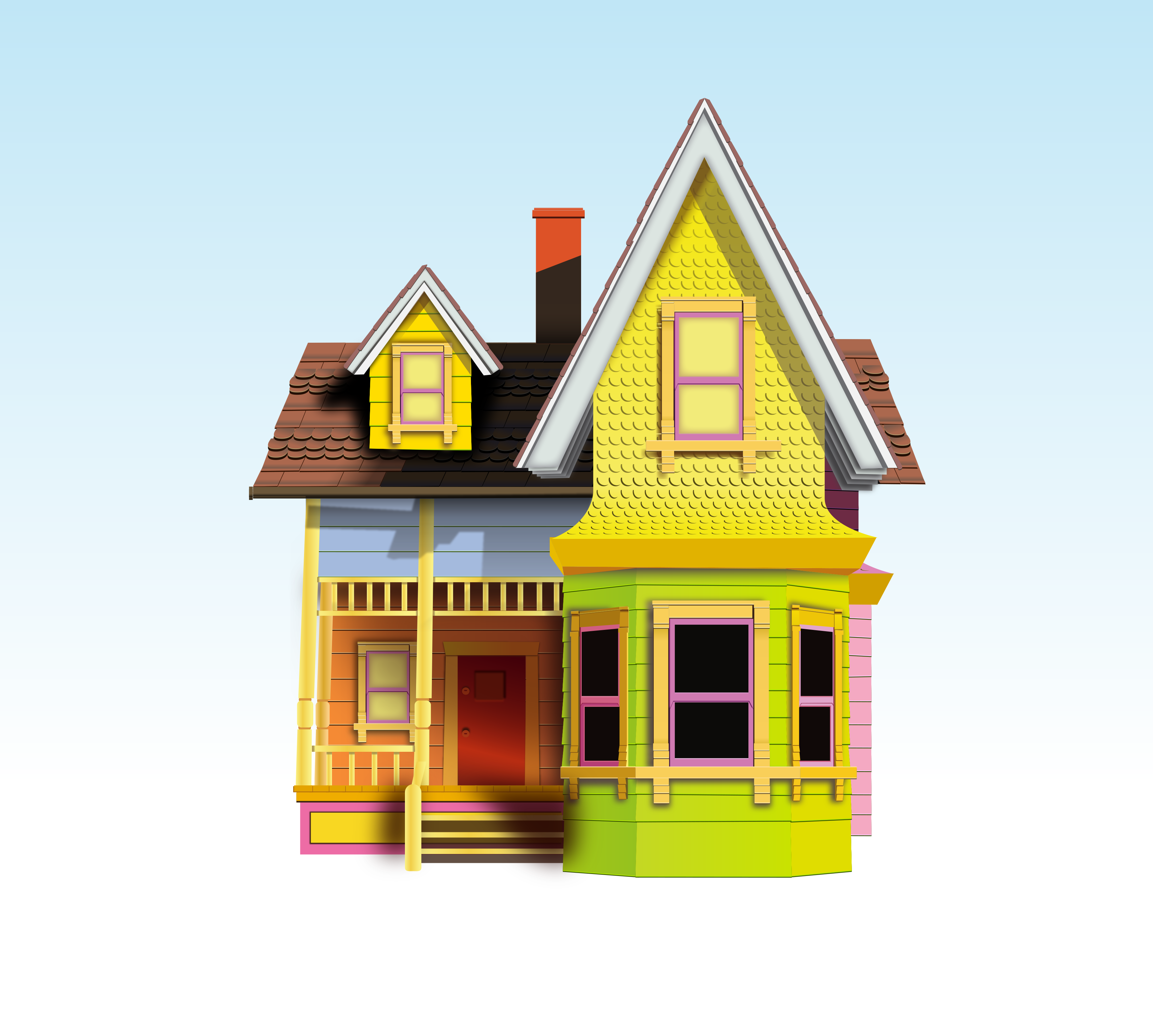 Up House Vectored By Skratakh Up House Vectored By Skratakh