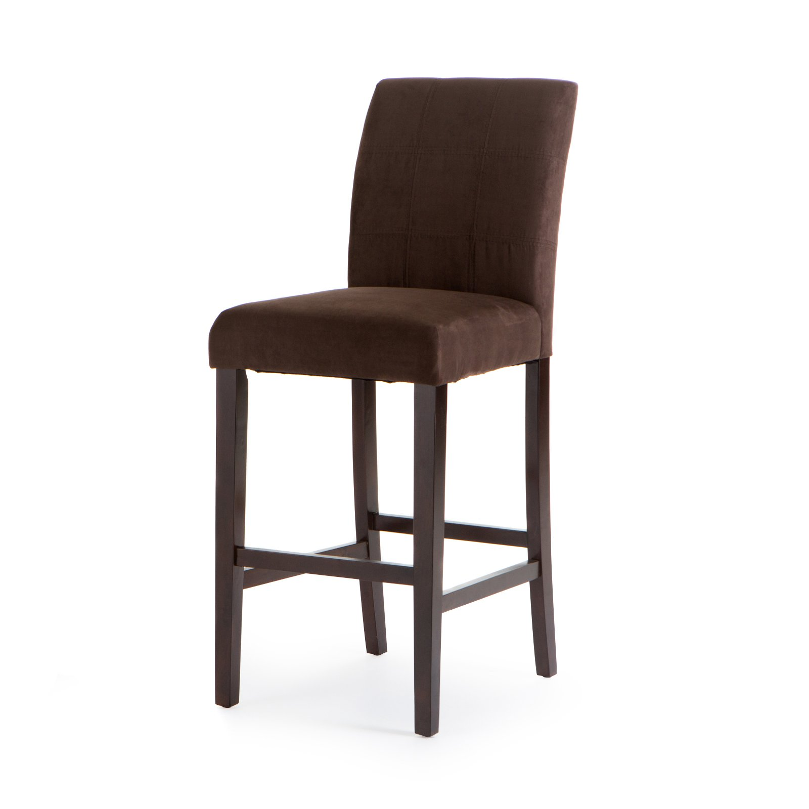 Finley Home Palazzo Bar Stool Set Of 2 Chocolate Upholstered