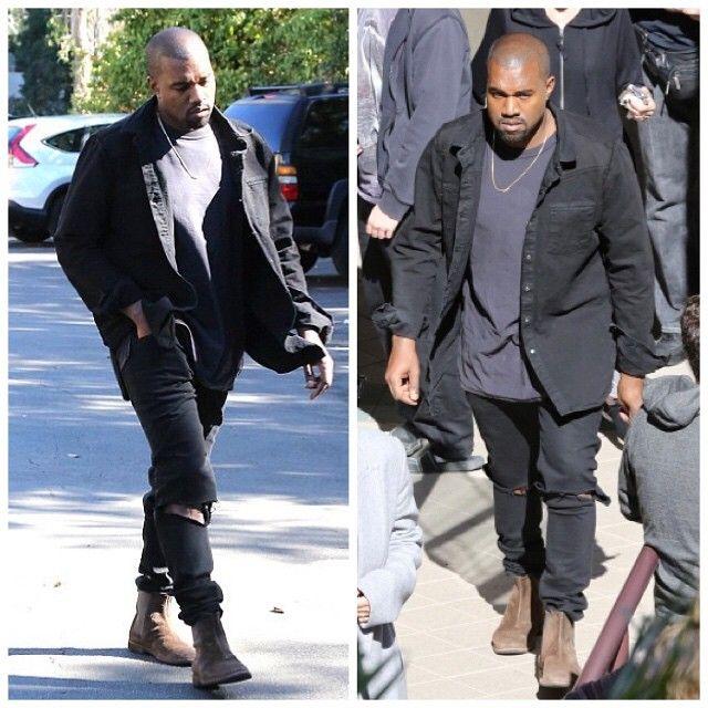 Kanye West Wears Off-White C/O Virgil Abloh Black Denim ...