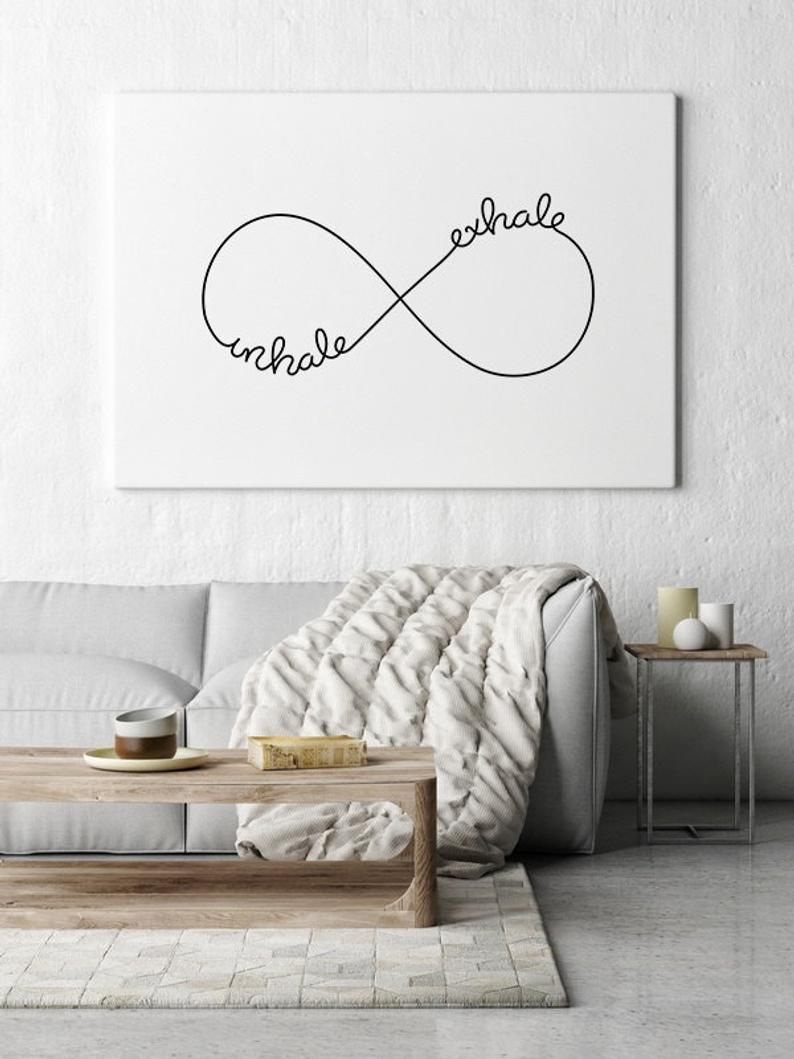 Inhale Exhale Wall Art Prints Inhale Exhale Print Wall Etsy Yoga Wall Art Wall Art Prints Home Yoga Room