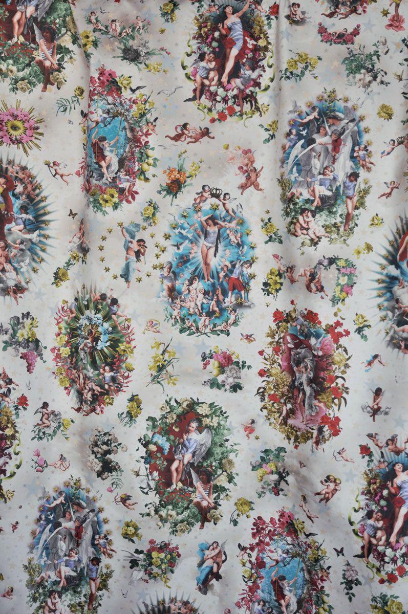 Tissu Jean Paul Gaultier tissu angelots - jean paul gaultier | fabric, print patterns