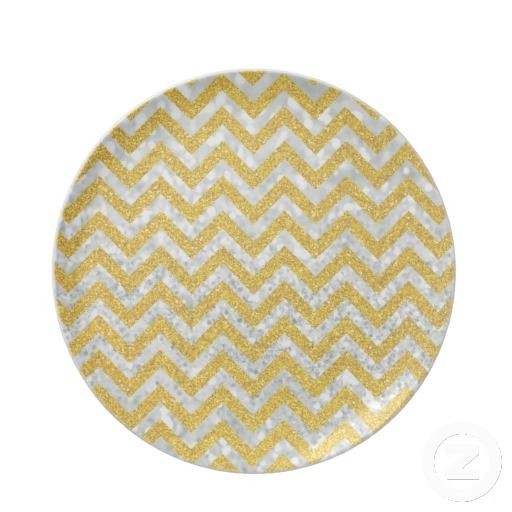 Glitter Gold Chevron Placemats
