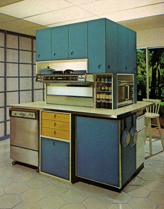 All Hail the Colourful Kitchen 1970s Pinterest Kitchen