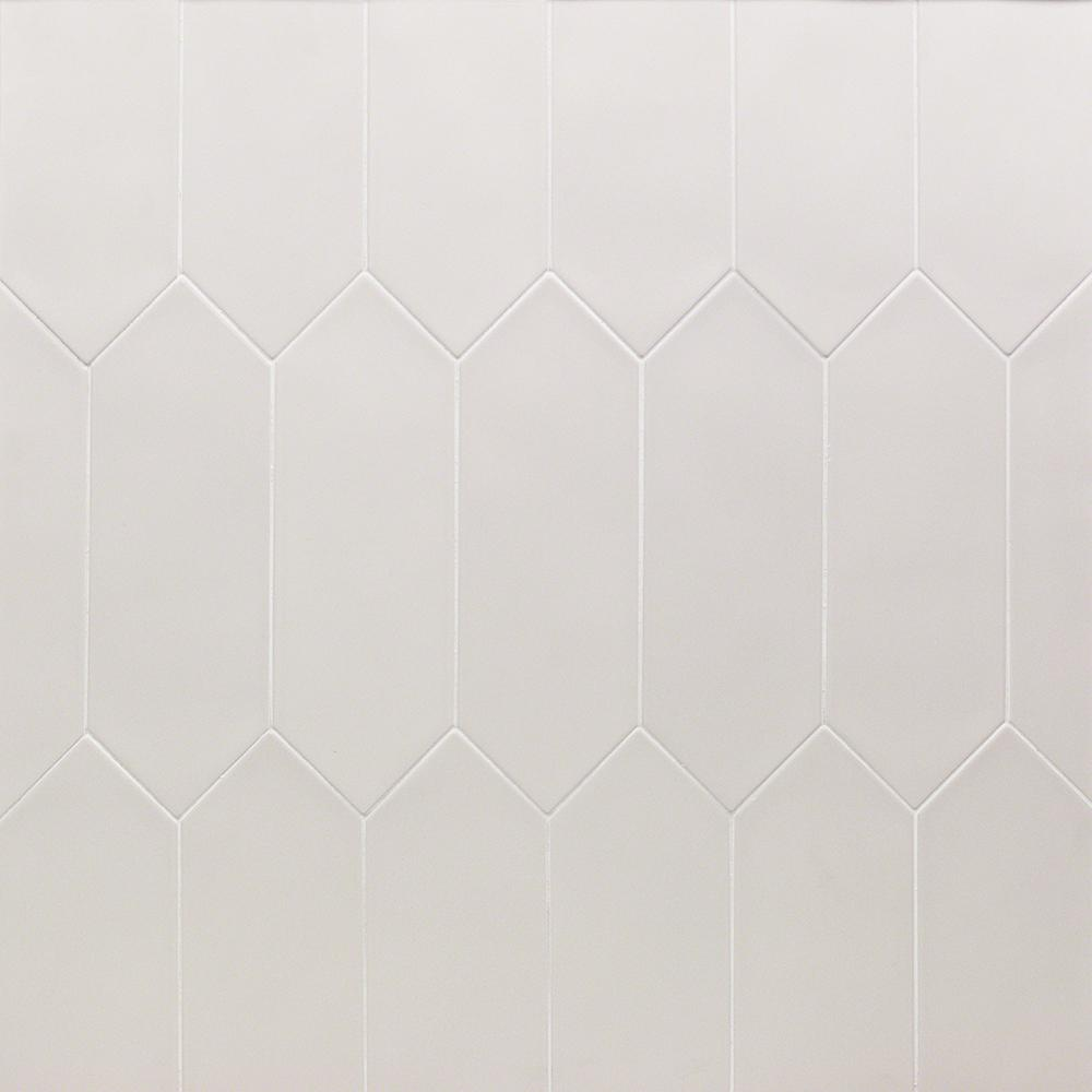 Ivy Hill Tile Russell White 4 In X 12 In 10 Mm Matte Porcelain Subway Floor And Wall Tile 40 Pieces 10 76 Sq Ft Box Ext3rd101547 The Home Depot In 2020