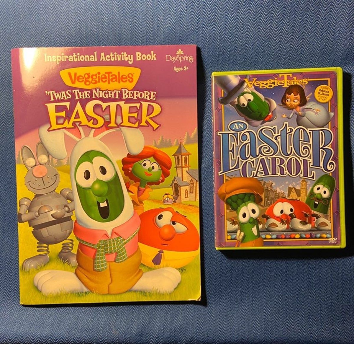 Bundle Lot Veggie Tales Brand New The Night Before Easter Coloring Activity Book And In Great Condition Dvd A In 2020 Coloring Books Easter Colouring Book Activities