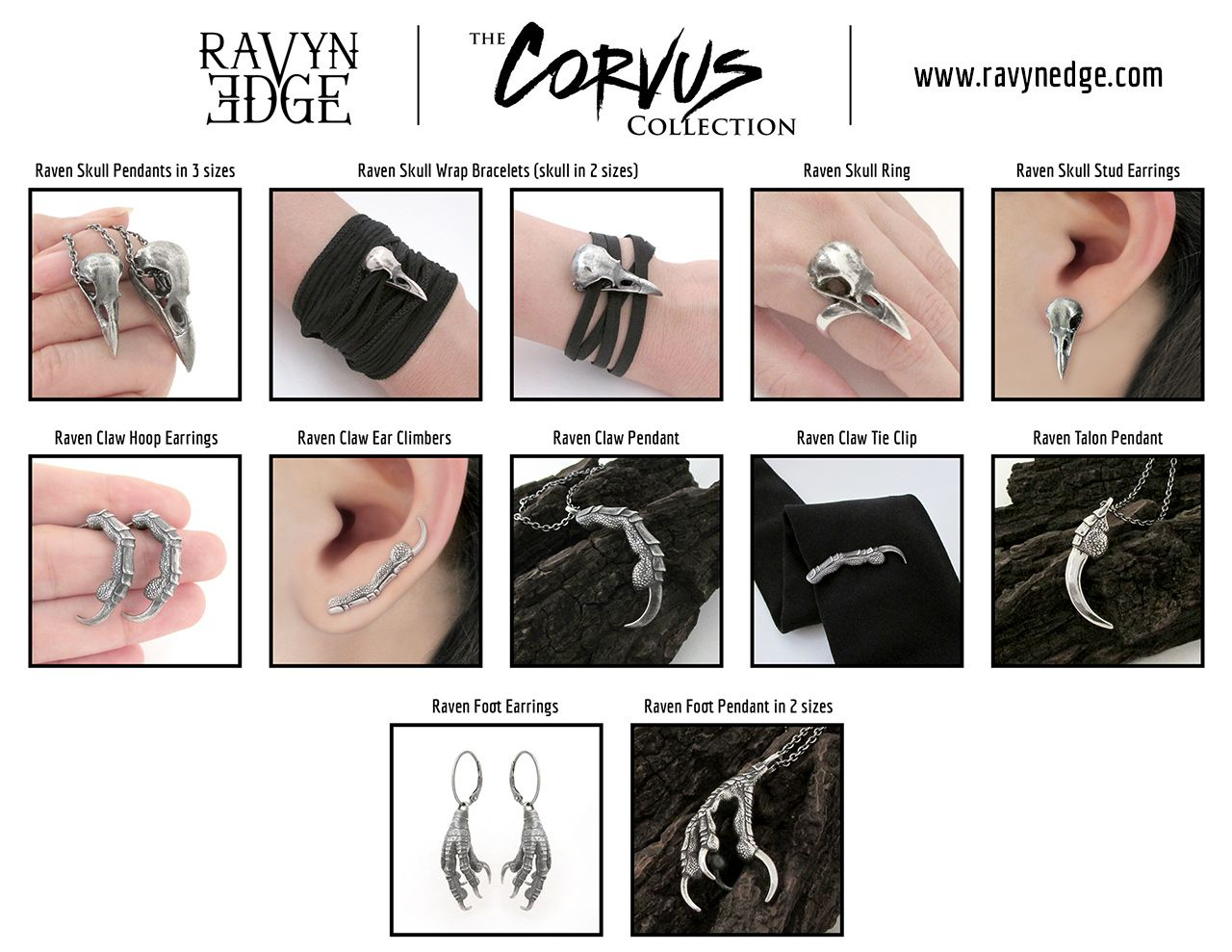 Tiffany J. Tinsley of RavynEdge is Set to Wow Jewelry Lovers with Her All-New Signature Line of Jewelry, The Corvus Collection #vikingsymbols