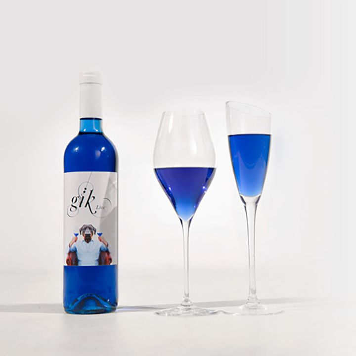 An irreverent group of Basque winemakers has introduced a Smurf-blue wine called Gik.